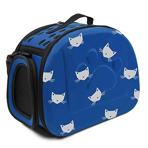(Flower cat pet bag Outdoor Dog Carrier Bag Foldable EVA Pet Kennel Puppy Dog Cat Outdoor Travel Shoulder)