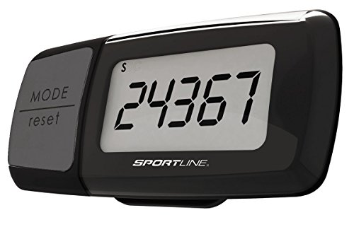 Sportline Step, Distance and Calorie Pedometer Activity Tracker - Black