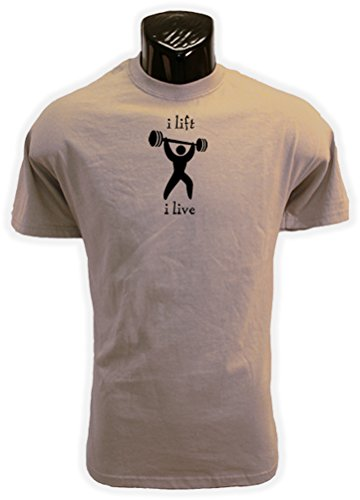 I Lift I Live Bodybuilding / Weightlifting (Sand) T Shirt