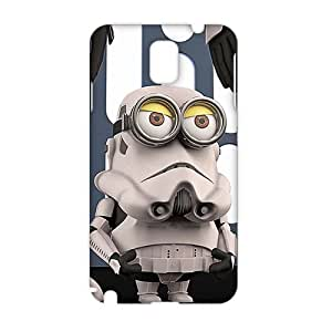 Fortune 3D Case Cover Cartoon Minion Robot Phone Case for Samsung Galaxy Note3