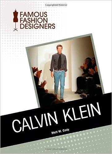 Amazon Com Calvin Klein Famous Fashion Designers 9781604139792 Cody Matt W Books