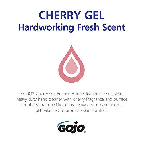 GOJO Cherry Gel Pumice Hand Cleaner, Cherry Fragrance, 10 fl oz Heavy Duty Hand Cleaner Flip Cap Squeeze Bottle (Case of 8) - 2354-08 by Gojo (Image #4)