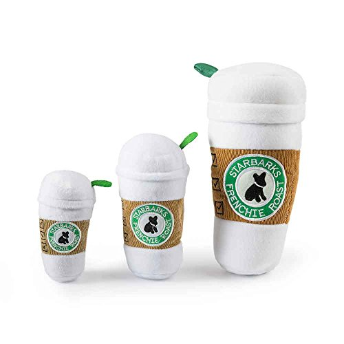 Diggity Dog Toy - Haute Diggity Dog HDD-028-LG Starbarks Coffee Cup with Lid, Regular