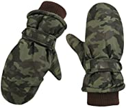 Kid Winter Glove Warm Ski Mittens for Boys Children Waterproof & Windproof Snow Gloves with Ve