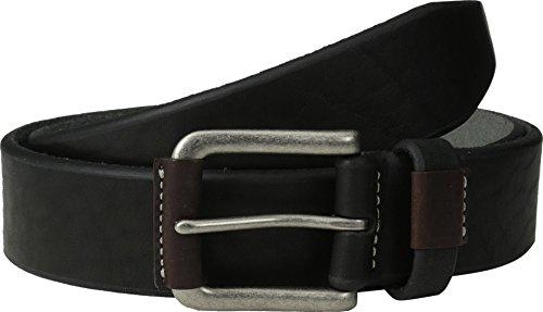 Johnston And Murphy Mens Belt Buckle - Johnston & Murphy Wrapped Buckle Belt (34 - Black)