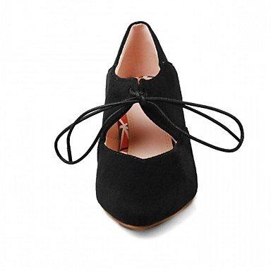 pwne Tacones Mujer Primavera Otoño Comfort Novedad Oficina Sintético &Amp; Carrera Visten Casual Chunky Heel Lace-Up Polka Dot Caminando US4.5 / EU36 / UK3.5 Big Kids
