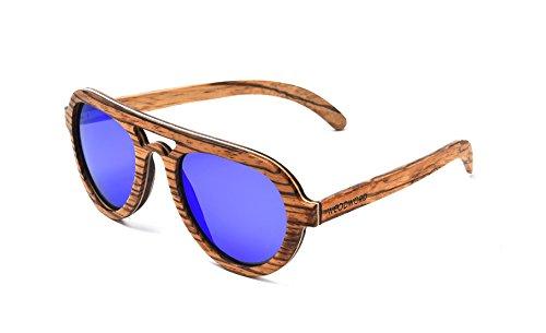 WOODWORD Polarized Handmade Wood Sunglasses in Aviator St...