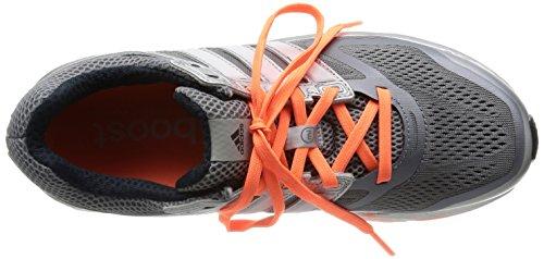Adidas Supernova Glide 6 - Zapatillas de correr de material sintético mujer gris - Grau (Tech Grey F12/Black 1/Glow Orange S14)