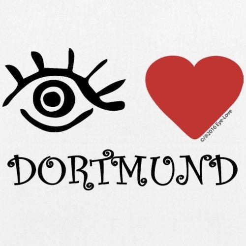 Spreadshirt Eye Love Dortmund Bio-Stoffbeutel Weiß k2vBkjY
