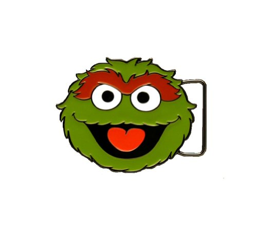 Sesame Street Oscar The Grouch Reflective Belt Buckle