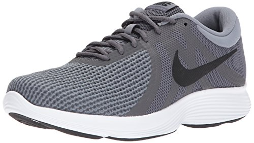 NIKE Men's Revolution 4 Running Shoe, Dark Grey/Black-Dark Grey-White, 10.5 4E US