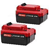 [Upgraded to 6000mAh] Replacement for Porter Cable 20V Battery 6.0Ah Max Lithium PCC680L PCC682L PCC685L Cordless Tools 2-Pack