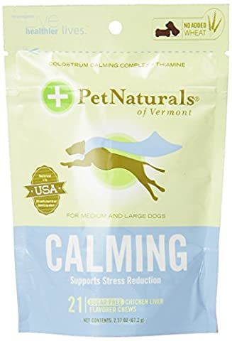 Pet Naturals Calming for Large Dogs, Chicken Liver Flavor, (21 count)-2.37OZ - Inhibitory Control