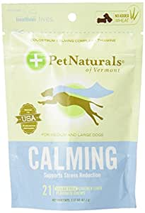 Pet Naturals Calming for Large Dogs, Chicken Liver Flavor, (21 count)-2.37OZ