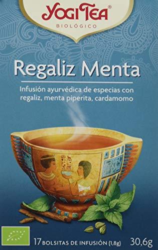 Yogi Tea Infusion de Hierbas Regaliz Menta - 17 bolsitas