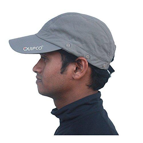 108bd61a226 Buy QuipCo Explorer Anti UV Cap - Color Gun Metal Online at Low Prices in  India - Amazon.in