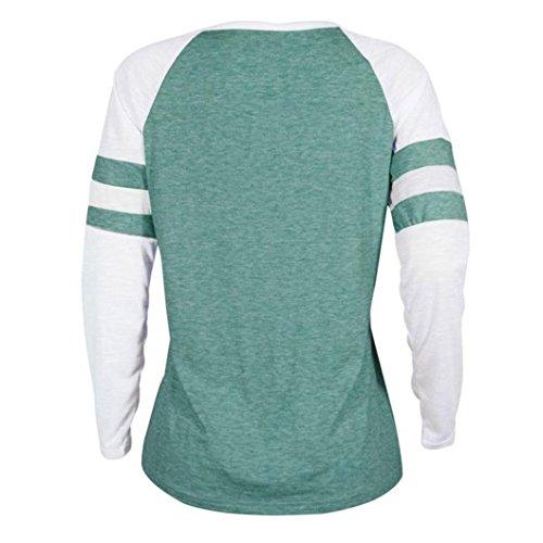 Pliss Pure Femmes A Dames Blouse Cou Thanksgiving Size D'Impression vert Rawdah Mode Plus Casual Slim O Shirt Tops Longues Patchwork Manches Shirt Blouse Tops T Color qUSvXwT