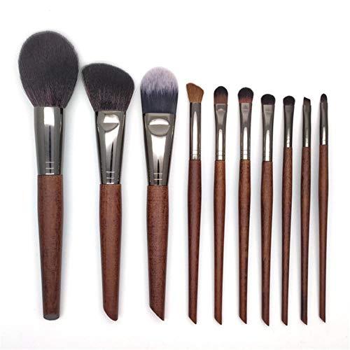 (10 original wooden handle makeup brush set single blush eye shadow makeup beauty tool@10 suits)