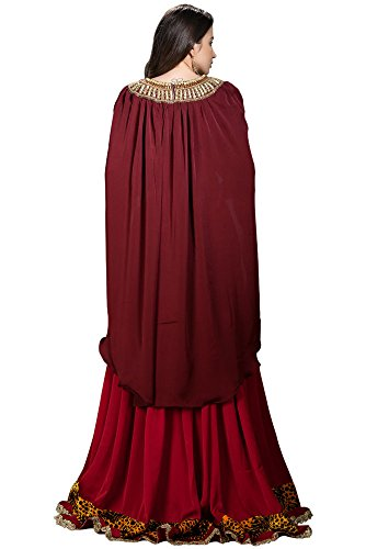 top vestito Maroon Palasfashion donna da Maxi con staccabile pzxOq0wS