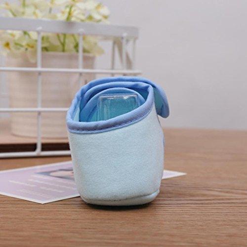 Igemy 1 Paar Kleinkind Baby Jungen Mädchen Soft Sohle Krippe Schuhe Sneaker Neugeborenen bis 6 Monate Hellblau