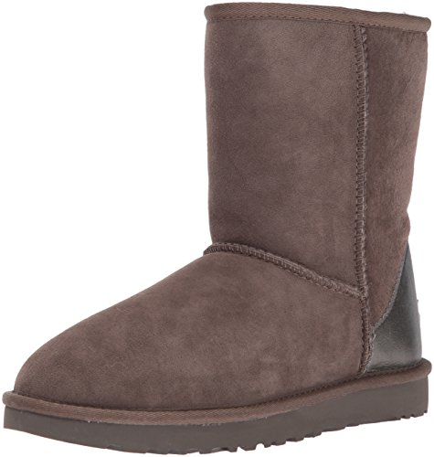 High Sheepskin Ugg Women's II Marron Metallic Short Boot Classic Top wqXPfa