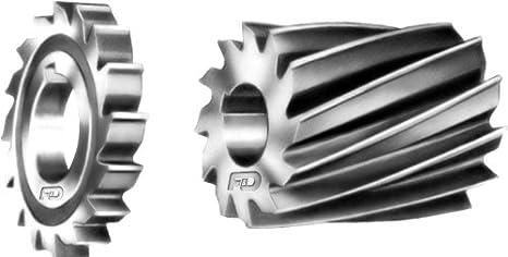 Straight Tooth F/&D Tool Company 12323 Shank Type Woodruff Keyseat Cutter 1 Diameter High Speed Steel 3//8 Width of Face