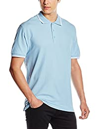 Fruit Of The Loom Mens Tipped Short Sleeve Polo Shirt