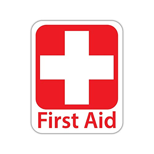 (Bargain Max Decals - Emergency First Aid Kit Safety Sign - Sticker Decal Notebook Car Laptop 4