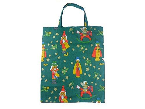 Leesha WILDe Upcycling Einkaufsbeutel Tasche für Kinder Inka Classic bunt aus Stoff Nussknacker