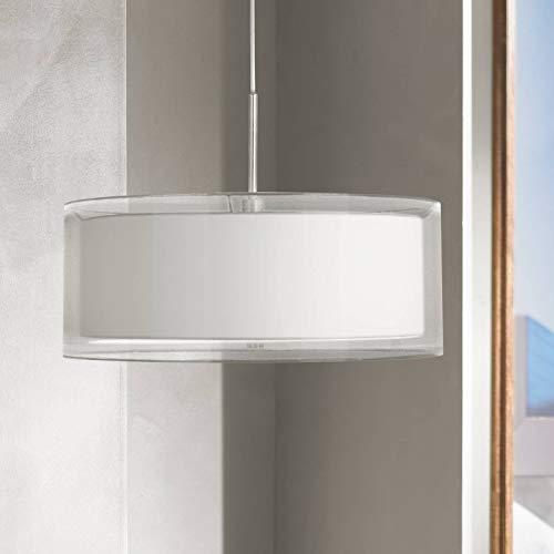 Possini Euro Double Drum 20 Wide White Pendant Light - Possini Euro Design