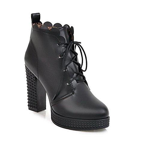 volantes mujer de antideslizante BalaMasa negro vestido para ABL10220 uretano botas 1qpnIAw