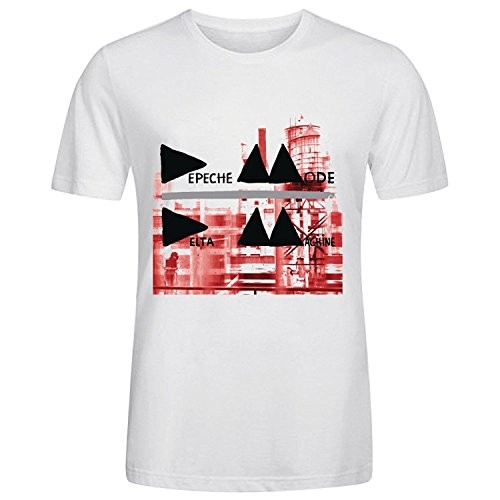 Machine T-shirt Adult (FEA Men's Depeche Mode Adult Short Sleeve T-Shirt, Delta Machine White, Small)