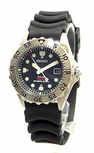[セイコー] SEIKO PROSPEX プロスペックス ダイバーズ 200m デイト ブラック文字盤 メンズ ソーラー V147-0AG0 SBDN005