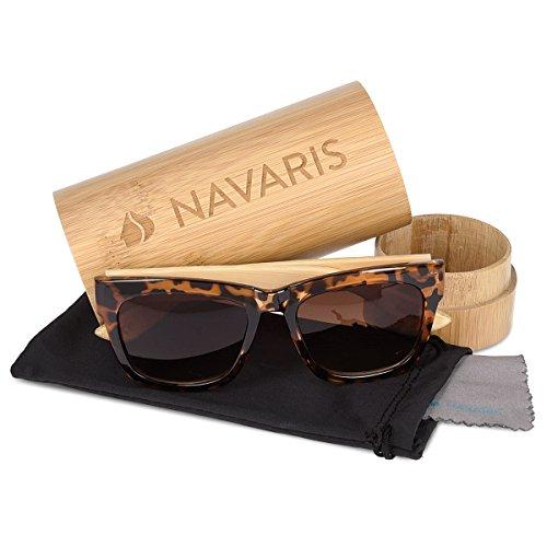 femmes Lunettes En en Cognac de bambou en bois UV400 Navaris différentes bois couleurs étui Marron Branches Lunettes soleil hommes pS0xdq