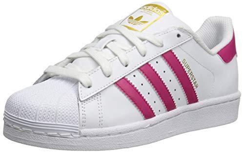 - adidas Originals Kids' Superstr Foundation, White/Pink/White, 5.5 M US Big Kid