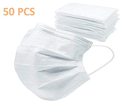 Disposable Germ 50ct Pollen Charcoal Pack Individual Flu
