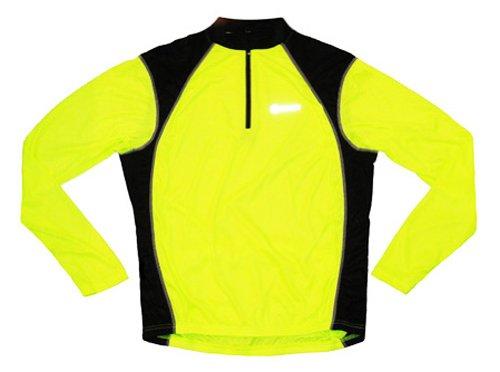 Canari Sight Neon Yellow Cycling Jersey Men's Long Sleeve