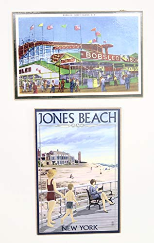 (Keepsake The Label Jones Beach and Coney Island Plaques Souvenir Gift Set of 2)