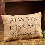 Burlap Goodnight Pillow (12x8'')