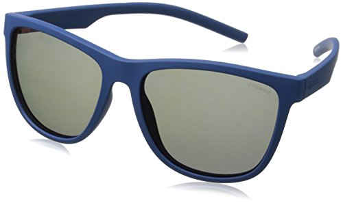 Polaroid Sunglasses Pld6014s Polarized Rectangular Sunglasses, Blue, 56 - Polaroid Sunglass