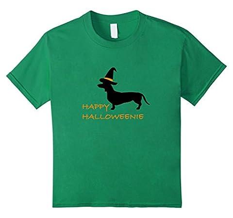 Kids Happy Halloweenie funny dog lover Halloween t-shirt 10 Kelly Green - Weiner Green T-shirt