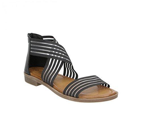 FITTERS FOOTWEAR - Sandalias De Dama - Christina en negro - Zapatos en talla grande - Tamaños del zapato 42 bis 45