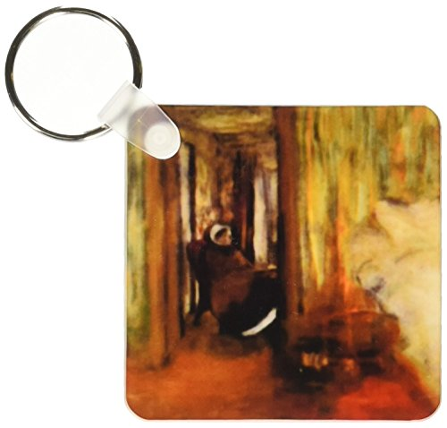 (3dRose Photo Of 1873 Painting The Nurse By Edgar Degas - Key Chains, 2.25 x 4.5 inches, set of 4 (kc_100890_2))