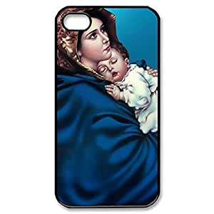 Diy design iphone 6 (4.7) case, Custom Case- remember Virgin Mary it Christian and Child Baby Jesus Hard Plastic Back left Case into for iPhone 4 iPhone 6 (Black 020348)