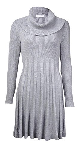 Calvin Klein Womens Cowl Neck Metallic Sweaterdress Photo #1