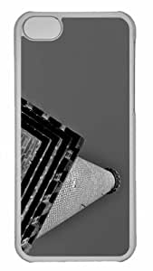 Customized iphone 5C PC Transparent Case - Tower Personalized Cover
