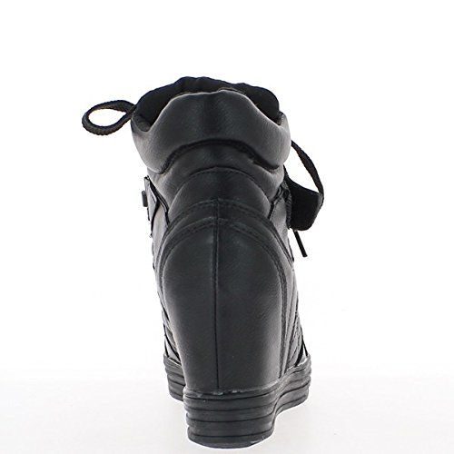 L'aumento Imbottite A Tacco Scarpe Da 8cm Dei Ginnastica Compensare Nere vqdFOv