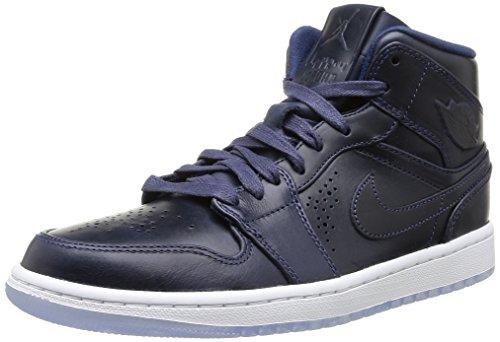 Nike Air Jordan 1 Mid Nouveau Men Midnight Navy White 629151-401 (SIZE  8)  - Buy Online in UAE.  a620911ff