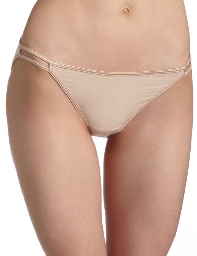 Illumination String Bikini Panties (Vanity Fair Women's Illumination String Bikini Panty 18108, Rose Beige, Medium/6)