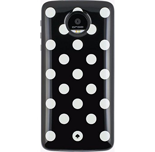kate spade new york Cell Phone Case for Motorolo Z Droid, Z Play Droid - Le Pavillion Black/Cream